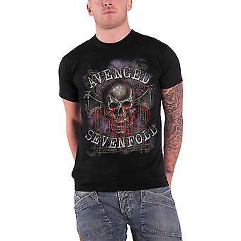 Avenged Sevenfold Mens T Shirt Black Bloody Trellis Death Bat Band Logo Official