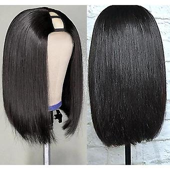 Gerade kurze Bob Upart menschliche Haar Perücken für schwarze Frauen