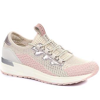 Bugatti Womens Lace-Up Wedge Trainers