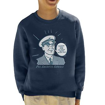 Pan Am Thank You For Flying With Pan Am Kid's Sweatshirt