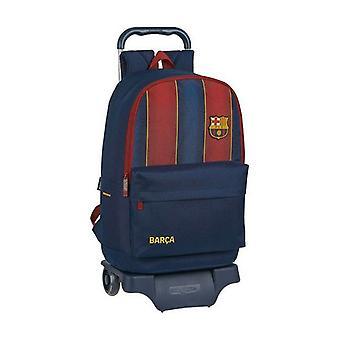 Skole rygsæk med hjul 905 F.C. Barcelona 20/21 Maroon Navy Blue
