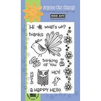 Hero Arts Happy Hello Clear Stamp