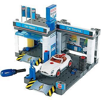 HanFei 8647 Bosch Auto-Servicestation I Mit Waschanlage und hhenverstellbarer Hebebhne I Inklusive