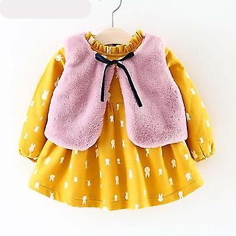 שמלת נסיכת תינוק חורף, שמלה עם שרוולים ארוכים
