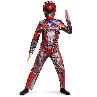 Röd Ranger film klassiska Saban är Power Rangers superhjälte pojkar kostym