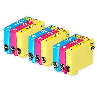 3 3 mustekasettia Epson 603XL C/M/Y -yhteensopivan/muun kuin OEM-laitevalmistajan tilalle Go Inksistä (9 mustetta)