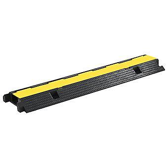 ponte de cabo vidaXL ultrapassa proteção 1 canal de borracha 100 cm