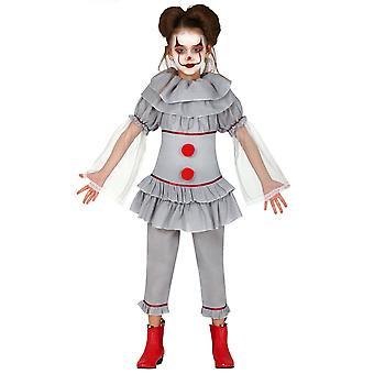 Clown vermomt grijs moordenaarsmeisje