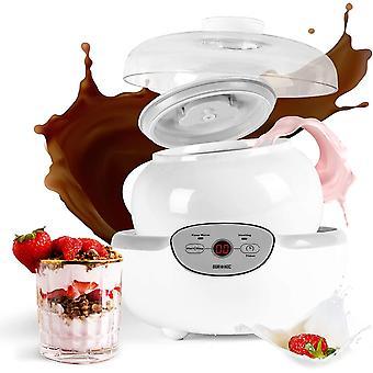 Wokex YM1 Elektrischer Joghurtbereiter mit digitalem Bildschirm und 1 Keramiktopf 1500 ml - Perfekt