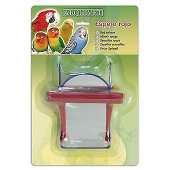 Arquivet Red spiegel 12 X 10 X 7 Cm (vogels, vogel kooi accessoires, spiegels)