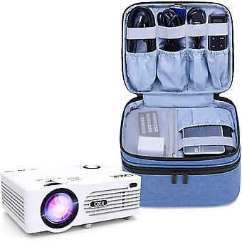 FengChun Beamertasche für Mini Beamer, Projektor Tasche Kompatibel mit APEMAN, QKK, DR. Q und Andere