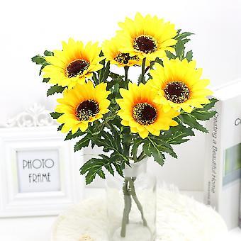 5pcs flor artificial girasol girasol flor seca flor falsa