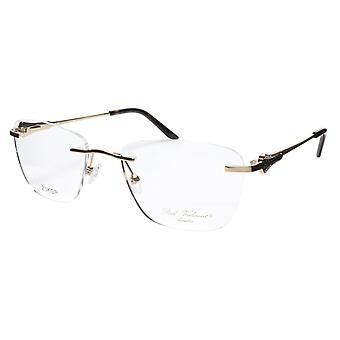 Paul Vosheront Eyeglasses Frame PV501 C01 Gold Plated Acetate Italy 52-18-135 37