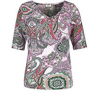 Gerry Weber 170285-35085 T-Shirt, Multicolored (Lila/Pink/Grun Druck 3058), 42 (Manufacturer Size: 36) Woman