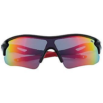Trespass Unisex Sunglasses Face, Color: Black/Red