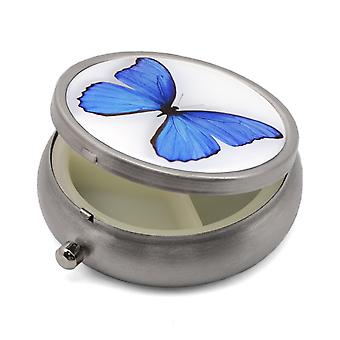 Pill Box with Butterfly Print - 50.29