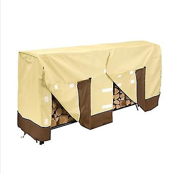 48*24*42Inches beige1 outdoor garden 600d oxford cloth waterproof and durable firewood shed firewood cover firewood rain cover x4550