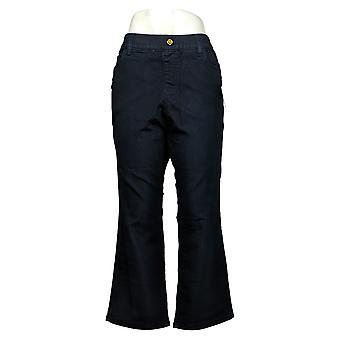 IMAN Global Chic Mujer Petite Jeans Illusion Pull-On Bootcut Azul 734928