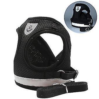 L حزام الأمان الأسود والمقود تعيين للصغار ال كلابwithout الجر نوع حزام مقعد الكلب x2170