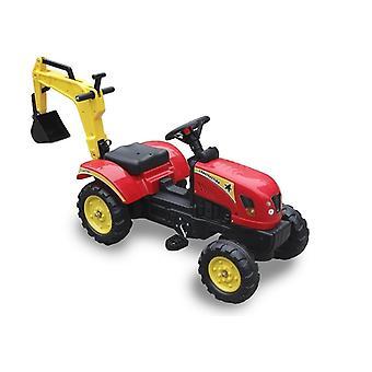 Τρακτέρ go-kart με βραχίονα εκσκαφής - κόκκινο