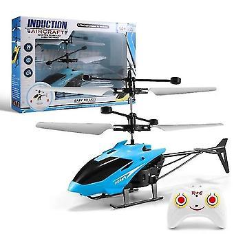 Blaue mini rc Hubschrauber Infrarot-Induktion S-Fernbedienung Indoor Outdoor Kinder Spielzeug dt5485