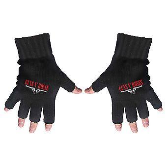 Guns N' Roses - Logo & Pistols Fingerless Gloves