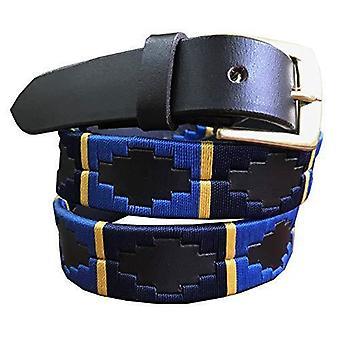 Carlos Díaz cuero marrón cinturón delgado awo85861