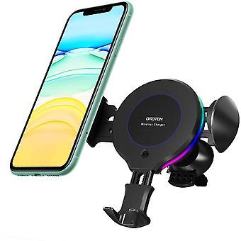 HanFei Caricatore Wireless Auto per Cellulari Qi, Supporto Teleffono con Ricarica Rapida per iPhone