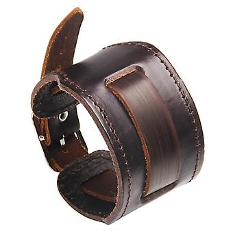 Mens Leather Bracelet With Magnetic Clasp Cowhide Multi Layer Braided Leather Mens