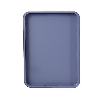 Wooden Serving Tray, Bamboo Serving Trays/platters/breakfast Trays With Handle (33x24x3cm, Grey)