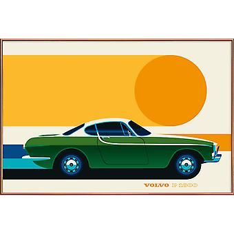 JUNIQE Print - Volvo P1800 Side - Cars Posters in Colorful