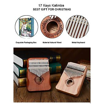 Kalimba 17 keys thumb piano high quality wood mahogany mbira body musical instruments kalimba piano