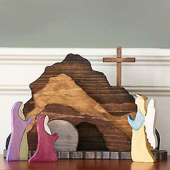 Ostern Auferstehung Szene Frühling Ostern auferstanden Christus Figur Dekor
