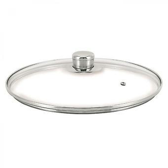 Tapa de cristal de beka - 24 cm - transparente y gris