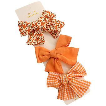3pcs/set Children Hairpin Flower Bow Hair Clips For Little Girls Cute Side Clip Princess Headdress