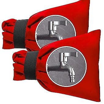 Ulkohanan kannet talvella, ulkopuutarhaletkun hanan kansi, 2 pakkausta (punainen)