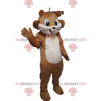 Maskottchen REDBROKOLY.COM braunen Eichhörnchen, Waldkostüm, riesiges Eichhörnchen