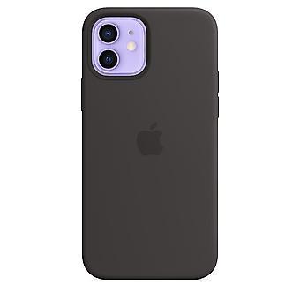 Originele Apple iPhone 12 / 12 Pro Silicone Case Cover met Magsafe - Zwart
