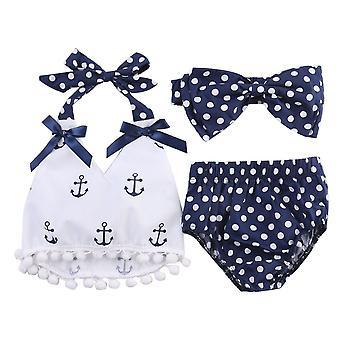 Peuter baby baby kleding ankers tops shirt polka dot slips