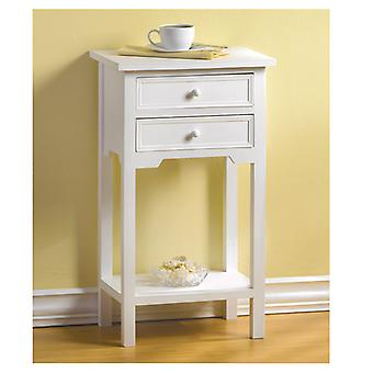 Accent Plus Classic Side Table - White, Pack of 1