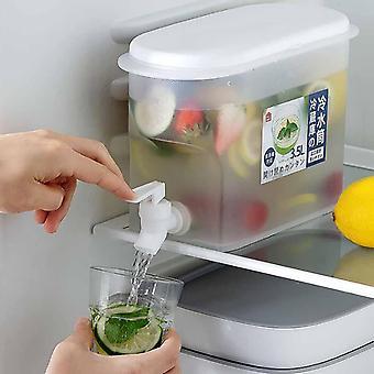 3,5l kallvattenkanna med kran kylskåp vatten citronflaska| Vattenkrukor & vattenkokare