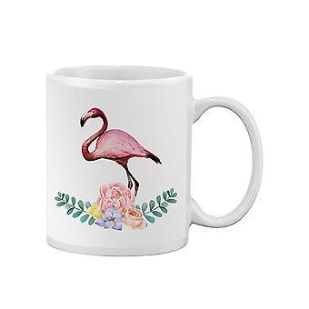 Flamingo With Flowers Mug -SPIdeals Designs