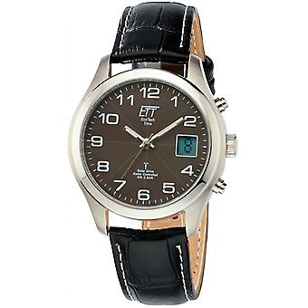 ONE (Eco Tech Time) Black Genuine Leather EGS-11330-50L Men's Watch