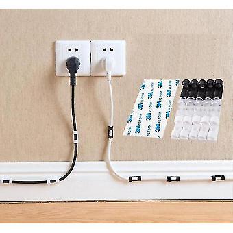 Desk parts accessories 20 piece set of cable organizer clips for desktop workstation transparent-20pcs