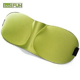 Snoring sleep apnea aids 10pcs 3d sleep eye mask soft sleeping eyeshade nap blindfold home office travel heath care green
