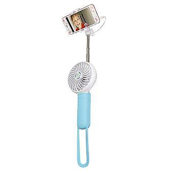 Tripods monopods pt-819 portable travel extendable selfie stick with fan universal handheld
