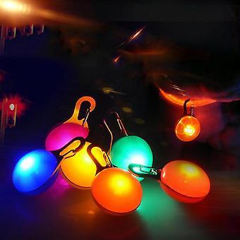 Colar de cachorro leve recarregável Luz de cão luz impermeável led luzes de segurança de cão para caminhada noturna (colorido)