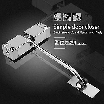 1set Door Closer Stainless Steel Automatic Spring Door Closing Device Can Adjust The Door Closing Device Furniture Door Hardware