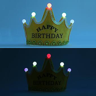 Ihana kuningas prinsessa lapset lapset syntymäpäivä sytytä valoisa led kruunu korkki