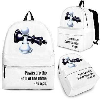 Custom backpack - chess set design #101 pawns are the soul of the game | 3 optional sizes, unisex backpack, mini backpack, kids backpack